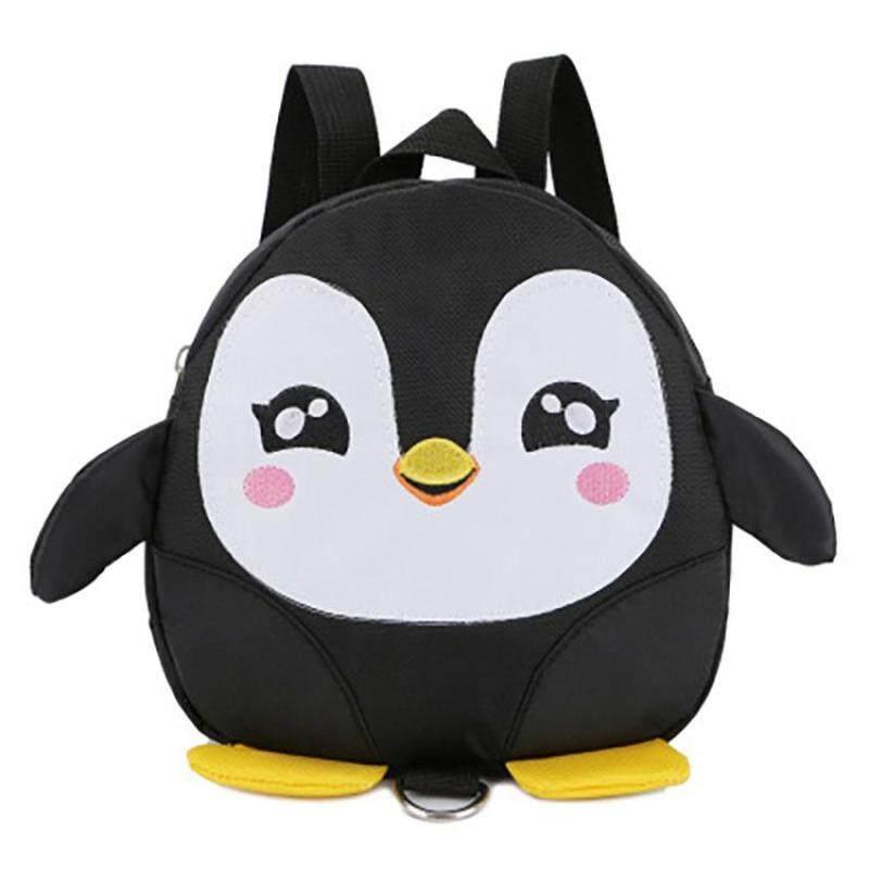 Unique2017 Korean Cute Cartoon Anti-lost Penguin Children Backpack Kids Preschool Kindergarten Nursery Schoolbag Toddler Junior Bag with Harness Safety Backpack