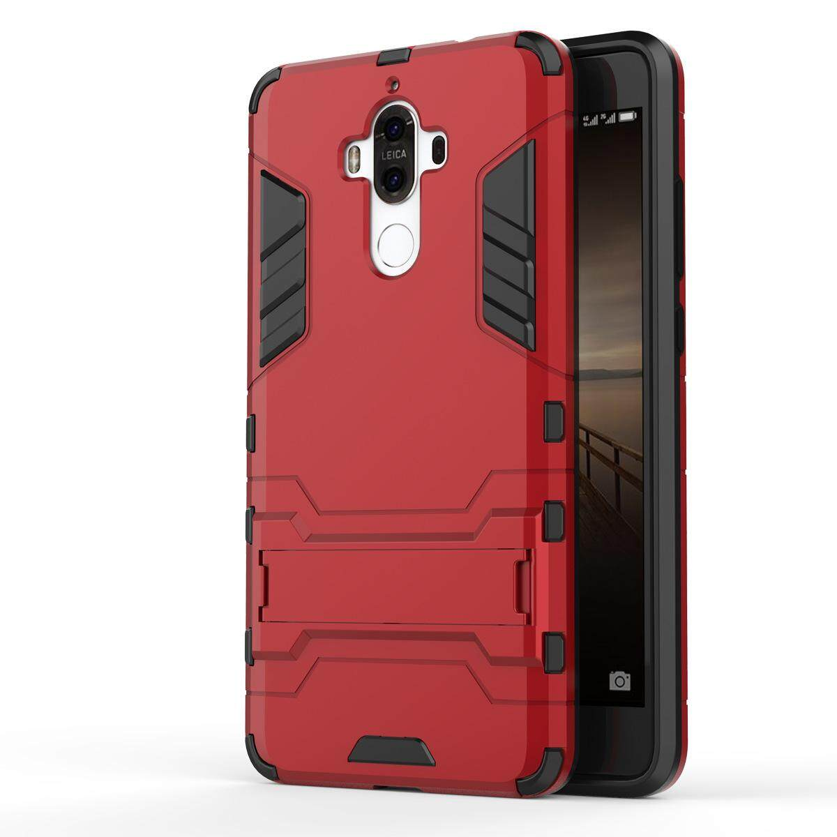 Hình ảnh for Huawei Mate 9 Case 2in1 PC+TPU Hybrid Slim Back Case Ultra Thin Armor Cover, with Kickstand Holder, Glossy, Minimalist, Casual