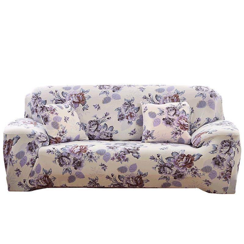 (3 Seater) Fashion Printed Polyester Sofa Cover High Stretch Sofa Slipcovers Without Pillowcase