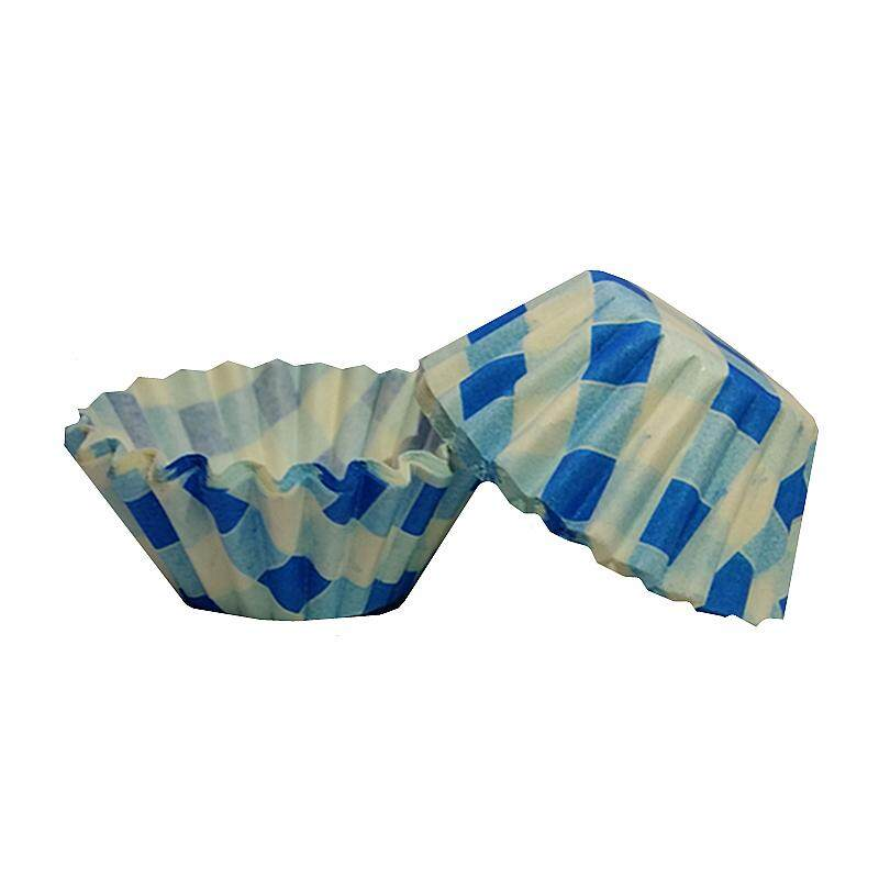 100pcs Colourful Paper Baking Cake Cup Liner D60mm Blue Box
