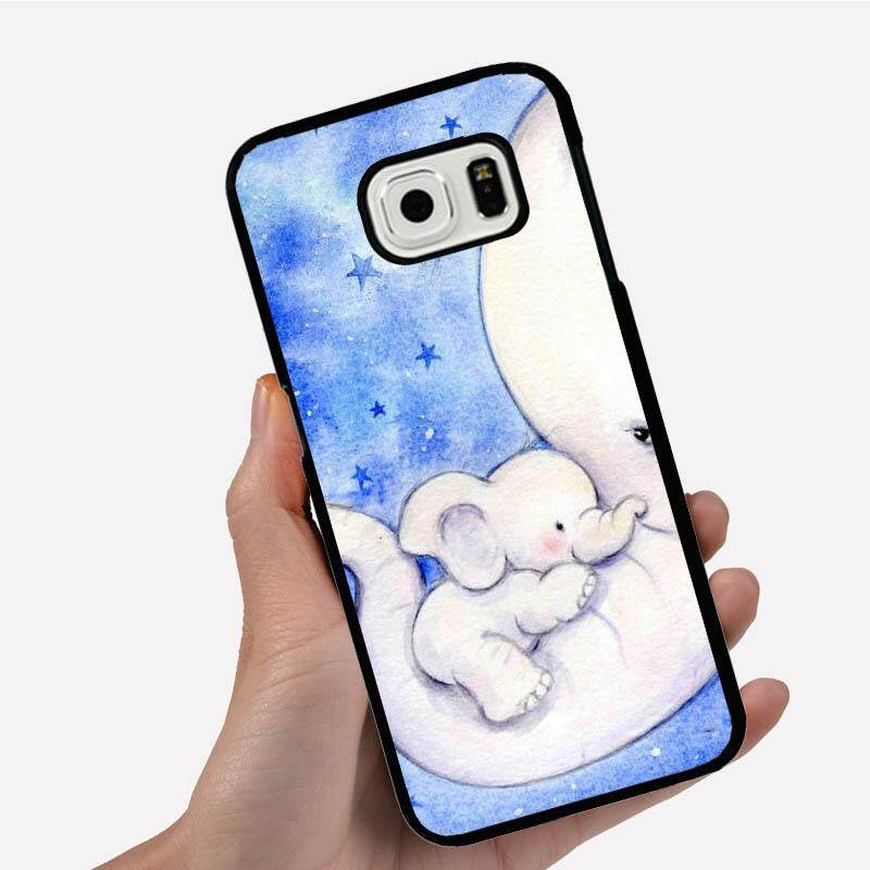 Phone Case For Samsung Galaxy On5 With The Little Elephant On The Mom Long Nose Cartoon Image Pattern Plastic Anti-Knock Phonecase Cover