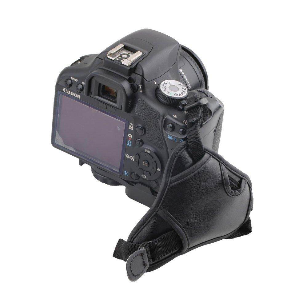 ... Qnstar Baik Kualitas Pu Kulit Lembut Kamera Tangan Pegangan Pergelangan Tangan Tali untuk Canon Hitam ...