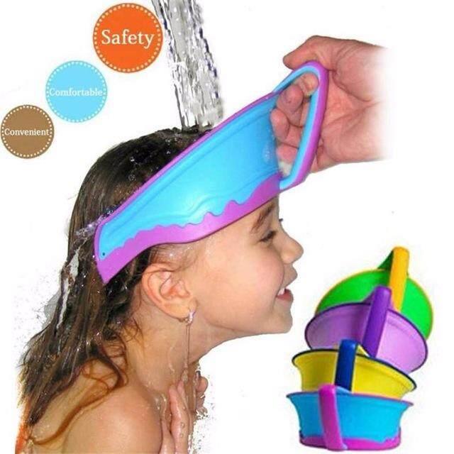 Anak-anak Baru Penutup Saat Mandi Topi Topi Mandi Bayi Melindungi Sampo, Mencuci Rambut