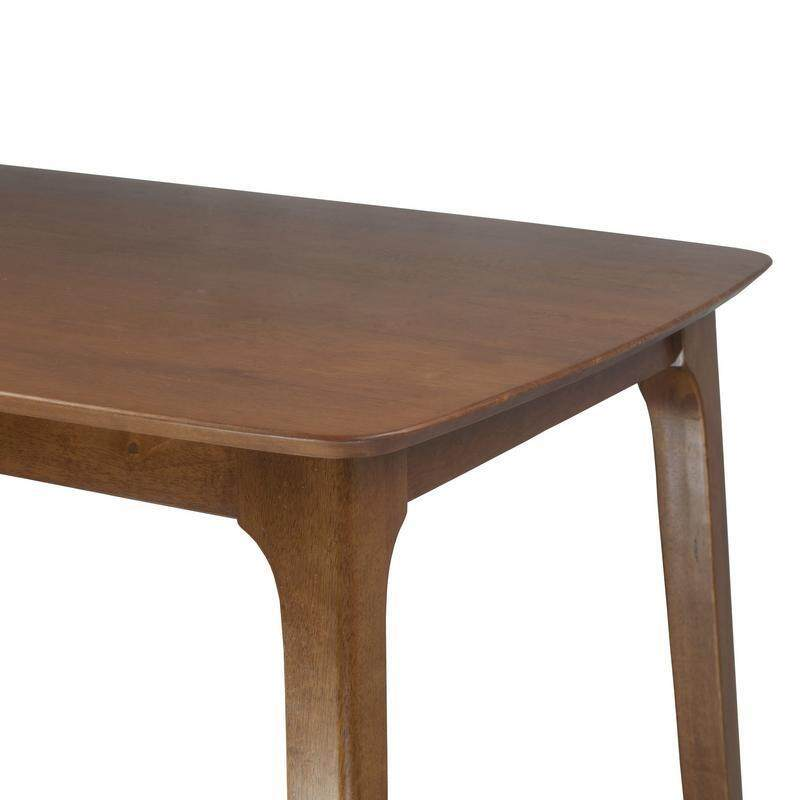 Atmua Swiss Dining Table (Scandinavian Style) [Full Rubber Wood]