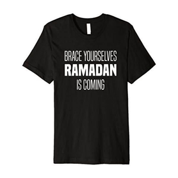 รั้งตัวเอง Ramadan กำลังมา Cool ศิลปะอิสลาม T เสื้อ - Intl.