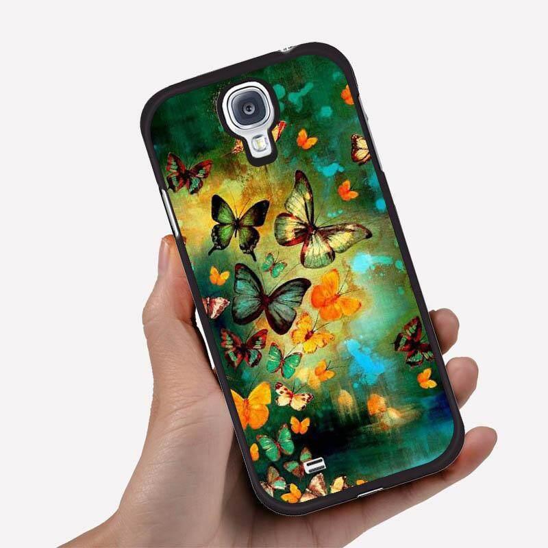 Casing Ponsel untuk ASUS Zenfone 6 dengan Kupu Terbang Keluar dari Air Hijau Latar Belakang Gambar Kartun Pola Plastik Anti-Knock telepon Case Cover