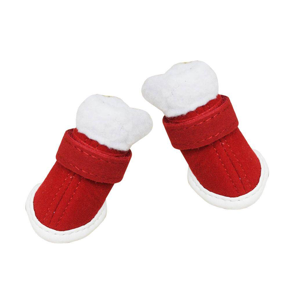 Pet Shoes High-Hatta Warm Red Multi-Size Festival Christmas