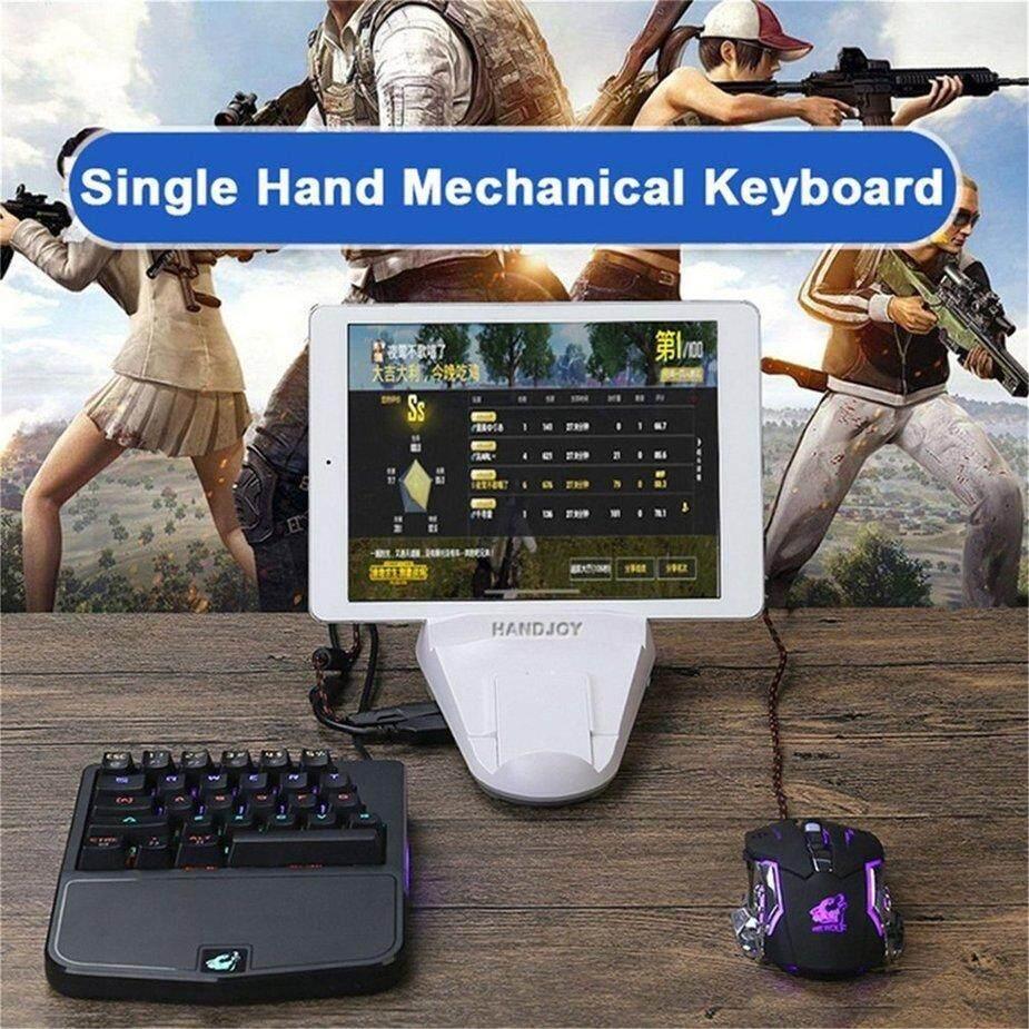 No 1 28 Tombol Sendirian Satu Tangan Desain Keyboard Mekanik USB Terhubung Keyboard