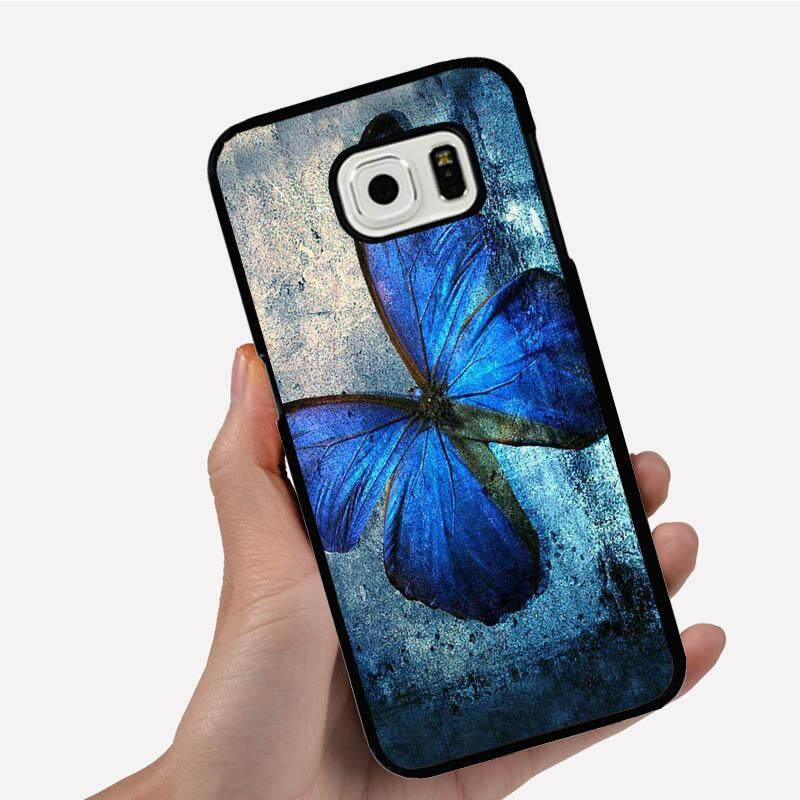 Phone Case For Samsung Galaxy S3 mini One Big Blue Retro Butterfly Cartoon Image Pattern Plastic Anti-Knock Phonecase Cover
