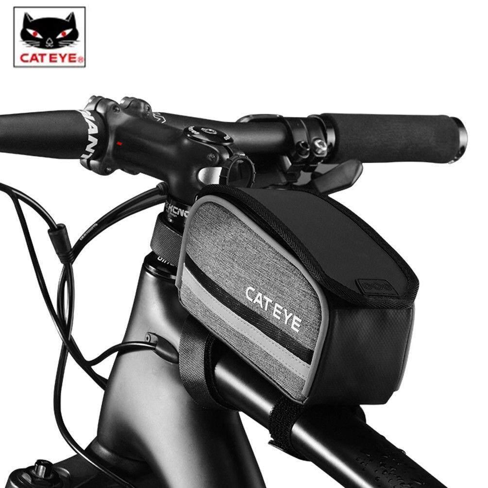 CATEYE MTB Road Bike Top Tube Bag Water Resistant Bright Reflective Frame Bag