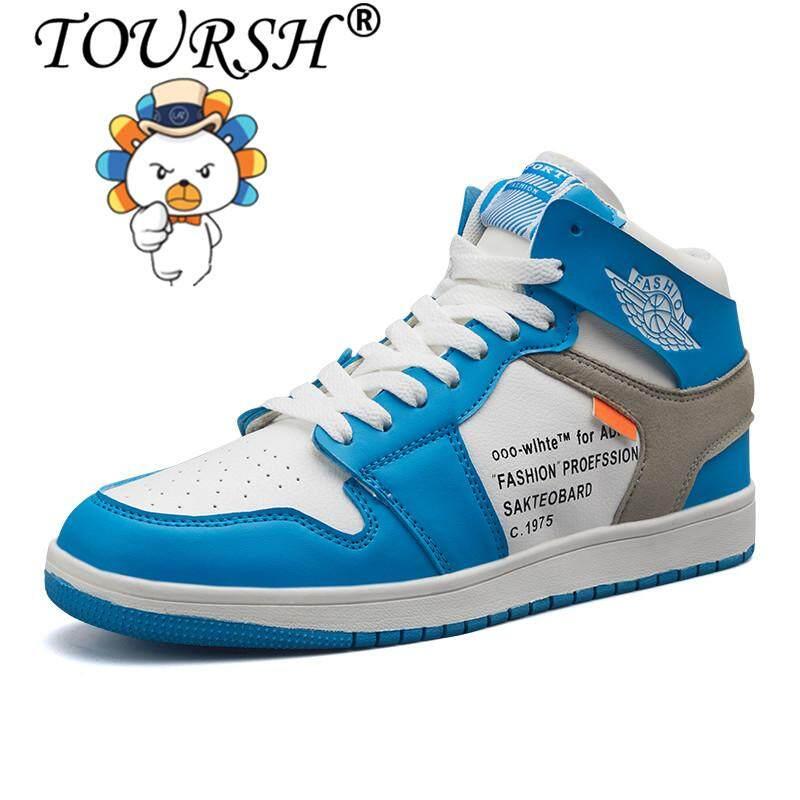 Toursh Pria Sepatu Basket Olahraga Luar Ruangan Atletik Sneakers free  Shipping  6f490c80f6