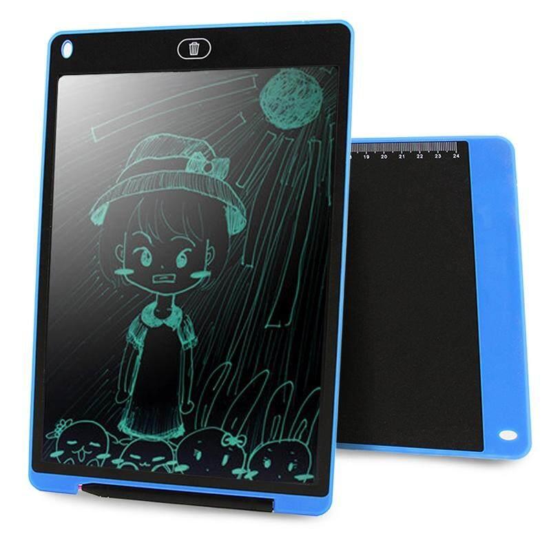 Chuyi Portabel 12 Inch LCD Menulis Tablet Menggambar Coretan Handwriting Elektronik Alas Pesan Papan Grafis Draft Kertas dengan Pena Menulis, CE/FCC/RoHS Sertifikat (Biru)-Internasional