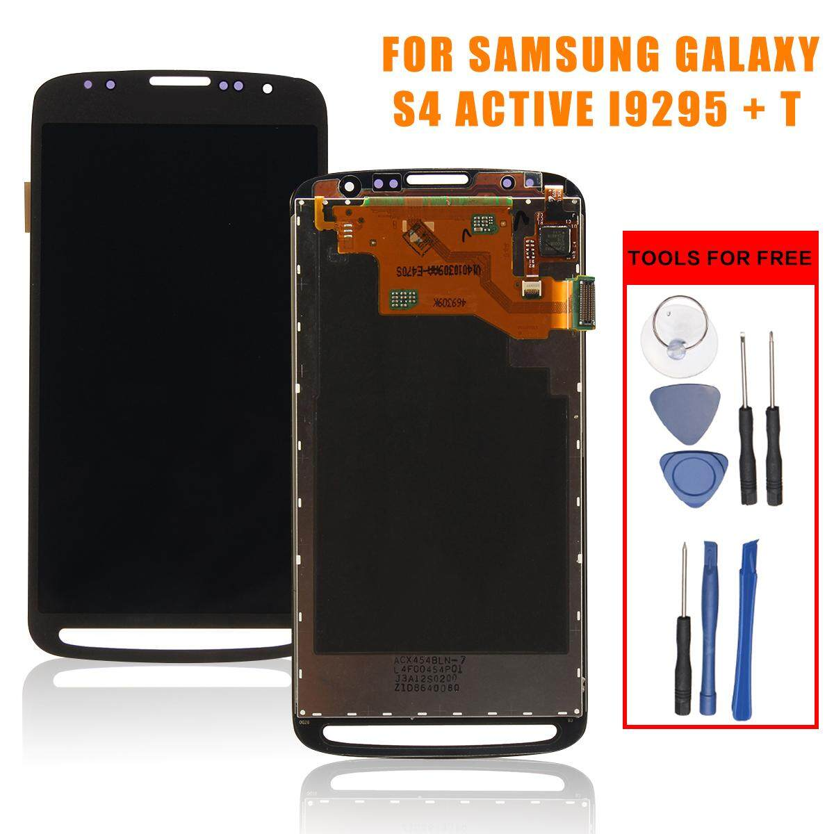 LCD Sentuh Layar Digitizer Assembly untuk Samsung Galaksi S4 Aktif I9295 I537 + Alat-Internasional