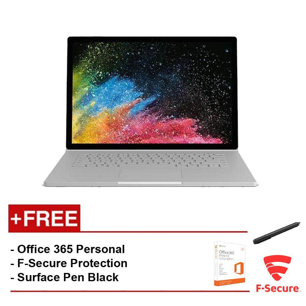 Surface Book 2 13 Core i5/8GB RAM - 256GB [FREE F-Secure End Point Protection + Off 365 Personal + Microsoft Surface Pen Black] Malaysia