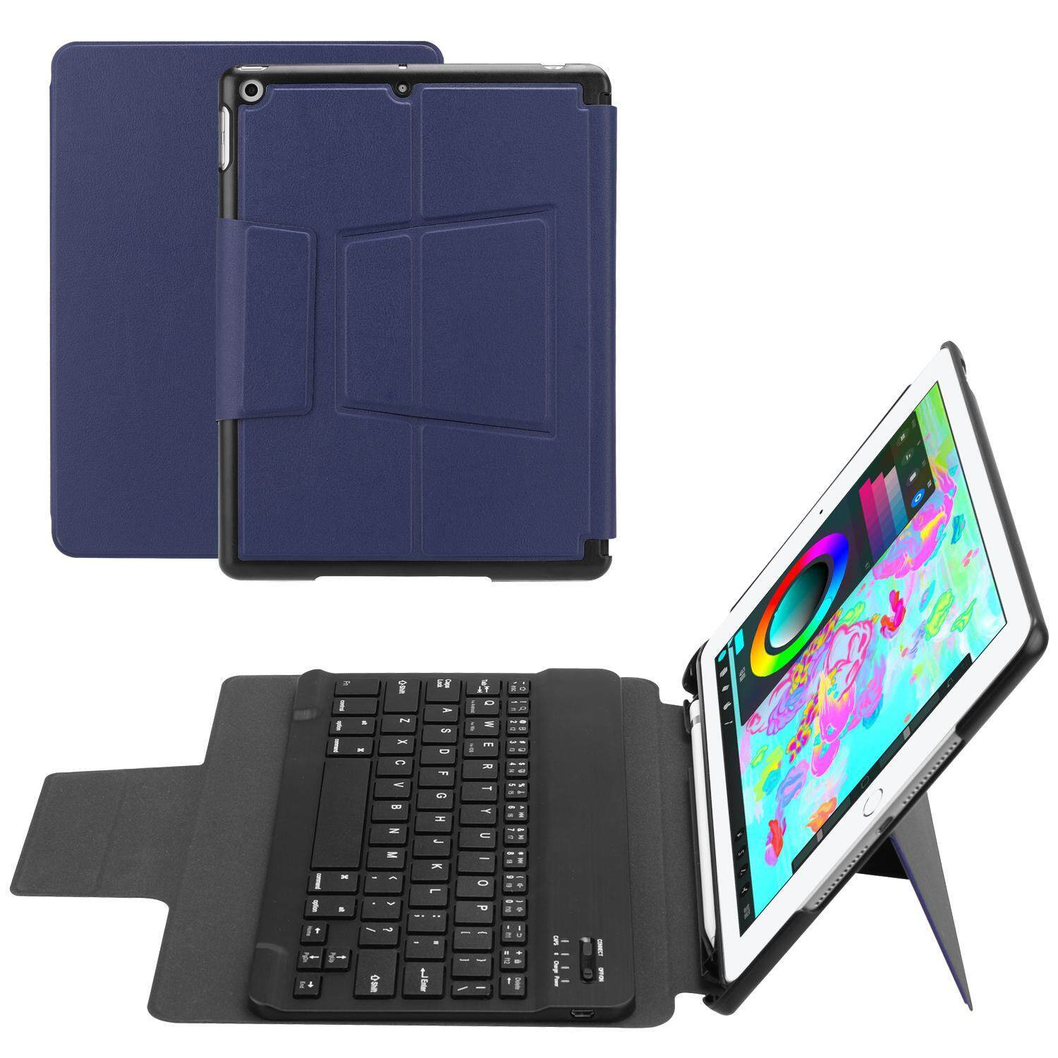 GoodScool Applicable to ipad 9.7 (2017/2018 version) with detachable aluminum alloy keyboard