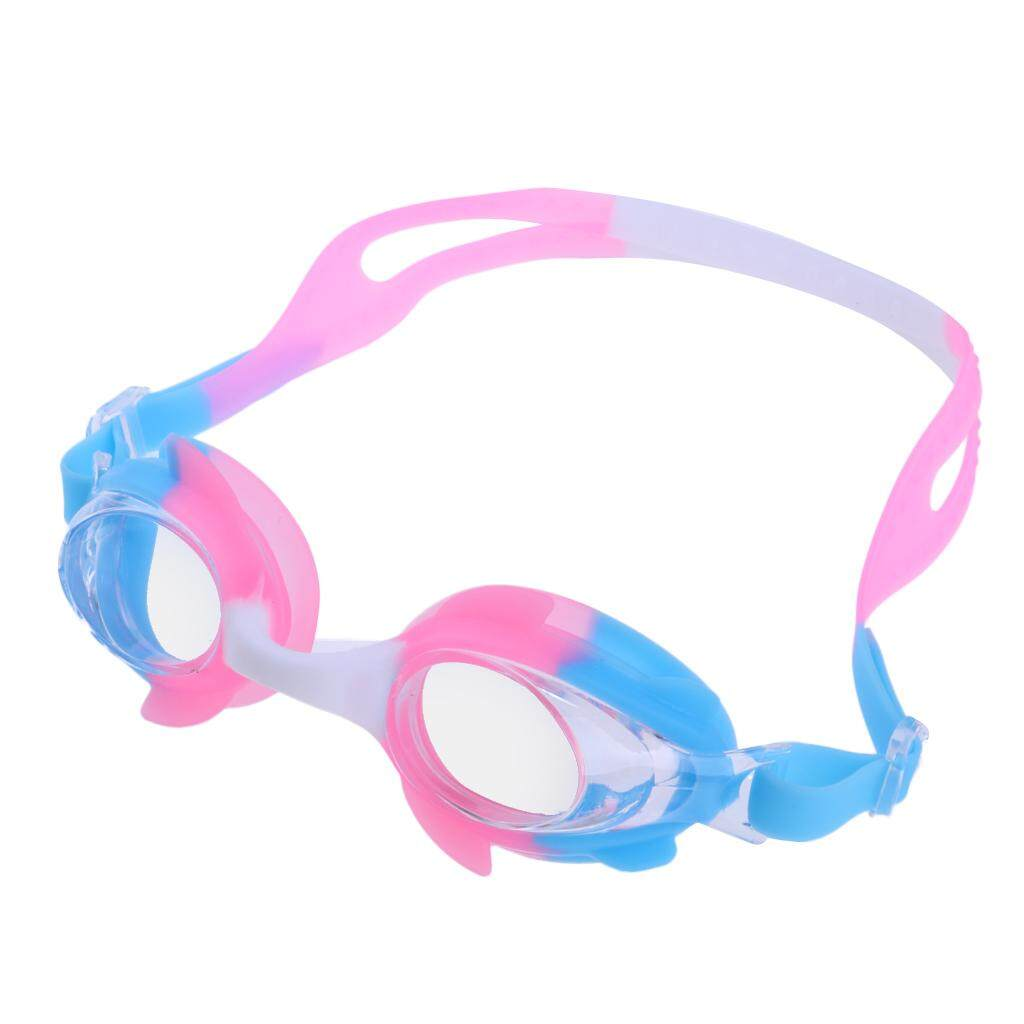 c12980a230 Flameer Kids Child Anti-Fog Anti-UV Silicone Swimming Goggles Glasses Pink  Blue