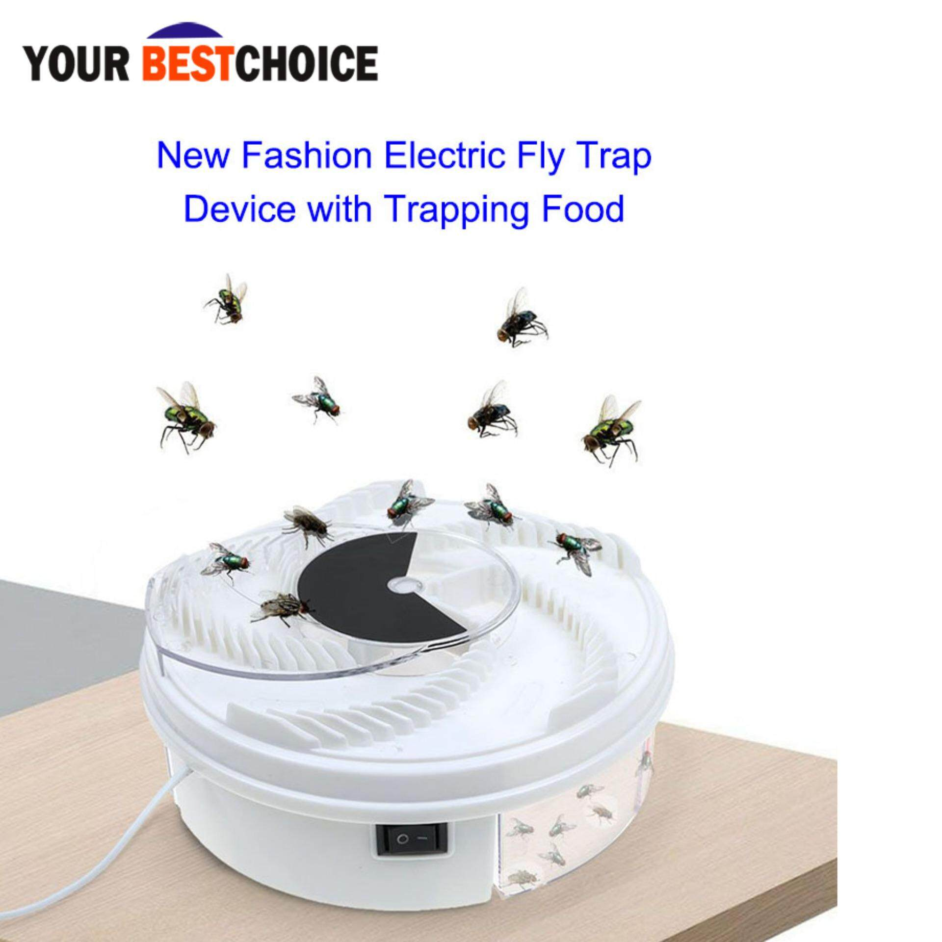Ybc Fly Trap Device Autumatic Electric With Trapping Food+Usb Cable+Brush