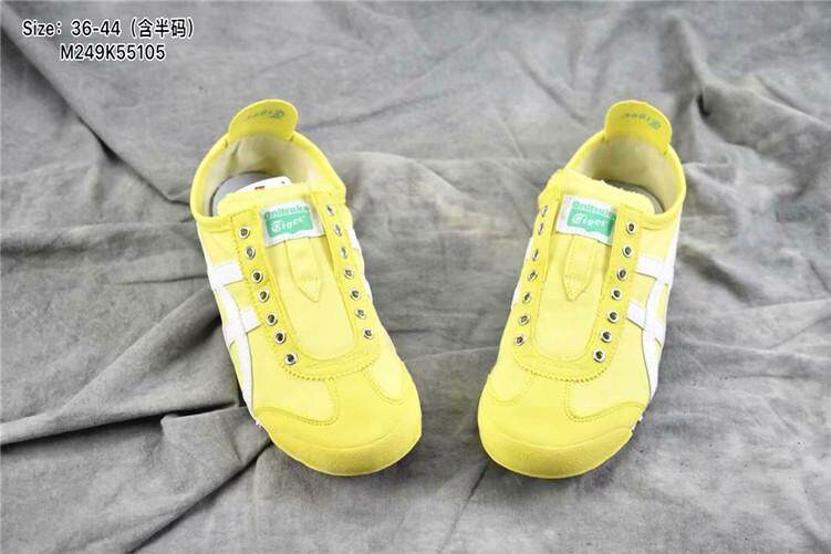 """c48bf5962167 Asics Official """"ONITSUKA TIGER"""" Running Shoe Women MEXICO 66 Canvas Lazy  Yellow White Global"""