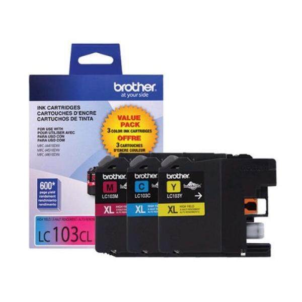 Tinta Printer Inkjet BROTHER Asli High-Yield Cartridge Tinta, LC1033PKS, 3-Pack Innobella Tinta Warna XL Series, halaman Hasil Hingga 600 Halaman Warna-Intl