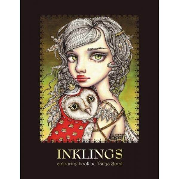 INKLINGS Colouring Book By Tanya Bond Coloring For Adults Children Featuring 24
