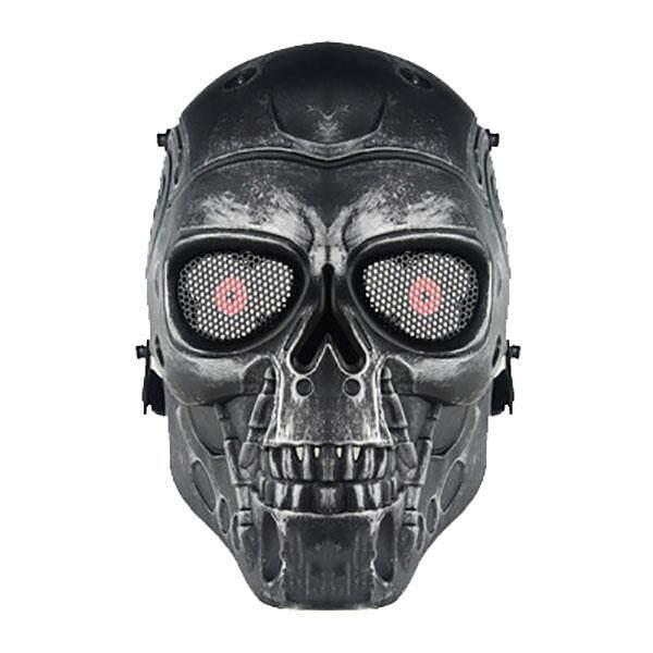 Hình ảnh Mặt nạ cưỡi CS chiến thuật thiết yếu Terminator Mặt Nạ Kinh Dị-Xám bạc