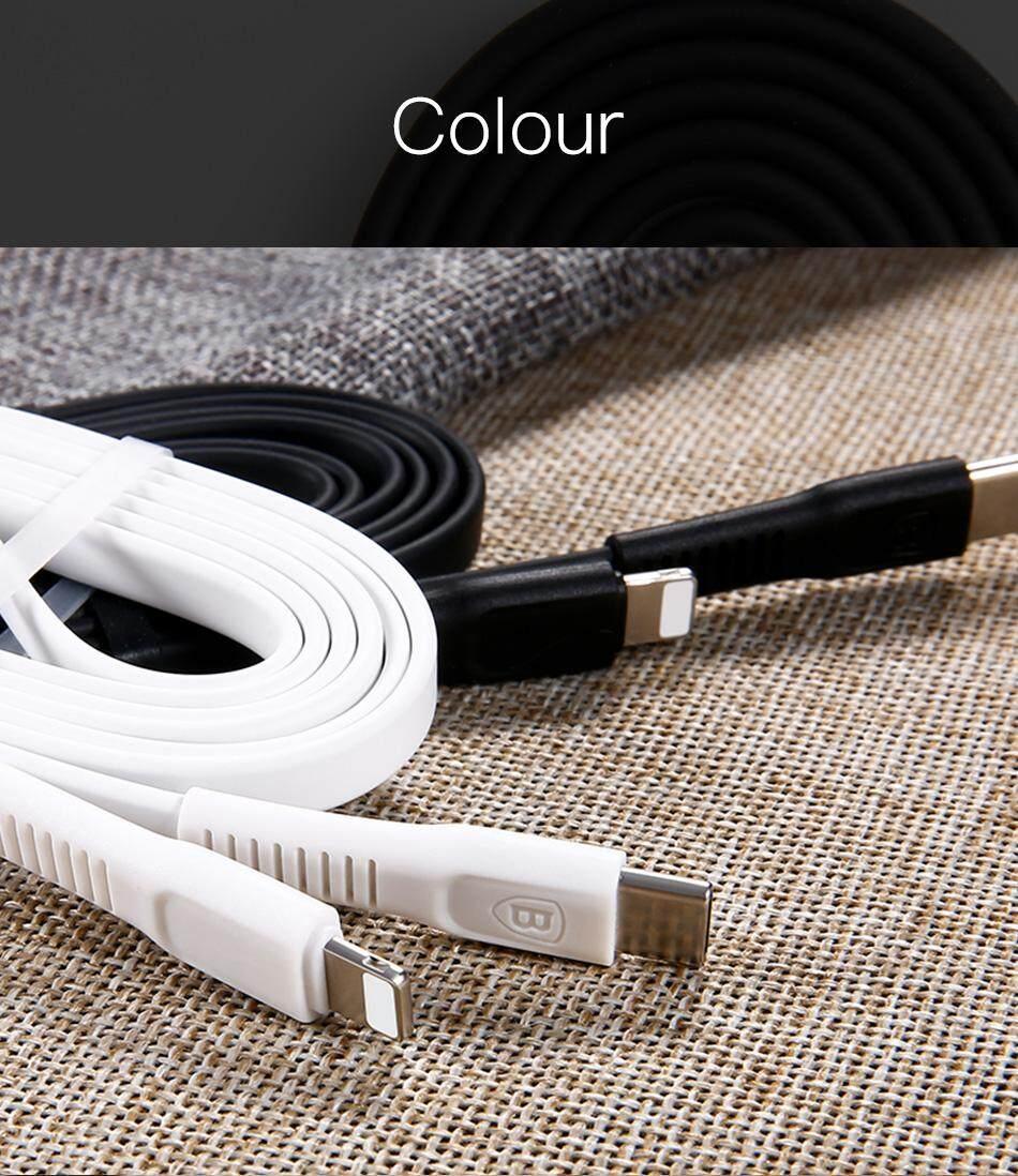 BASEUS untuk Apple Lightning untuk USB-C Kabel untuk iPad Iphone X 5 S 5C 6 S 7 7 Plus Cepat Kabel Pengisi Daya 1 M 2 M Tipe-C PD Kabel Pengisi Daya SE