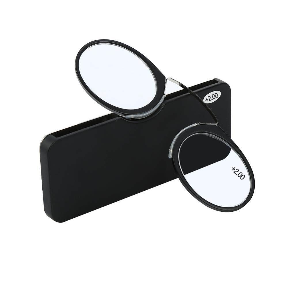 ... Mini Tongkat Portabel Membaca Presbyopic Kaca PLUS Penuh Bingkai Wanita Pria Menggunakan (Hitam 2.00)