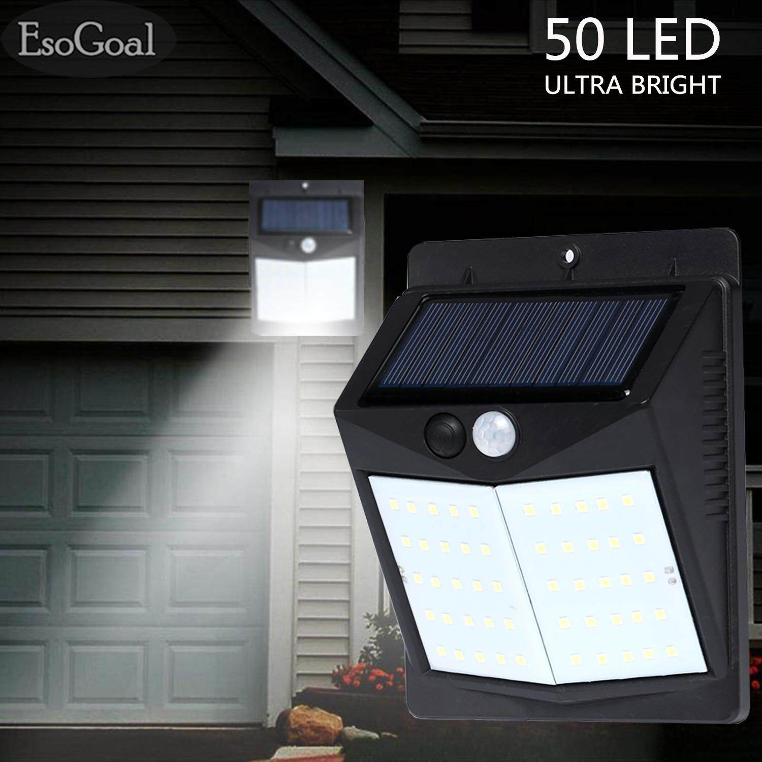 Outdoor Lighting For Sale Lights Prices Brands Review Light Unit And Method On Wiring A Switch To An Outside Esogoal Led Solar Wall Waterproof Motion Sensor Wireless Powered Lamp