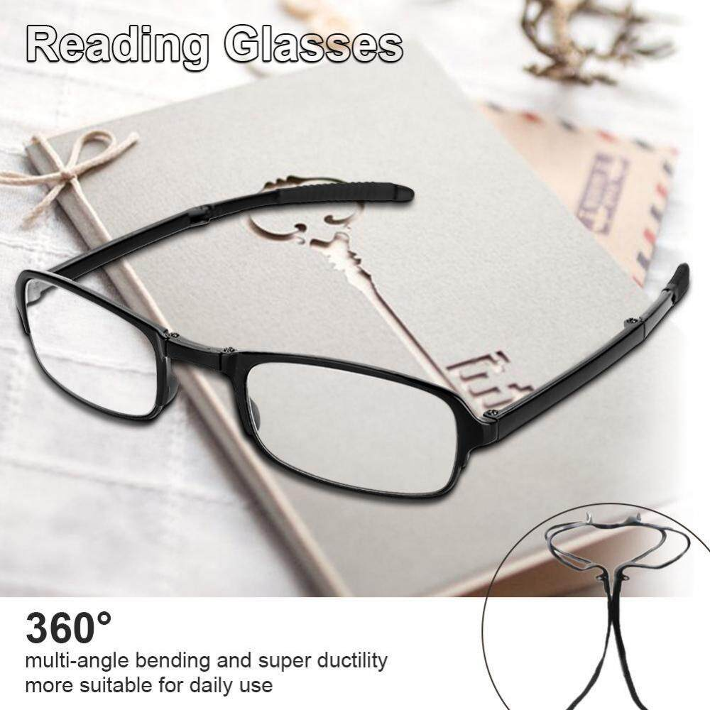 Unisex Portable Lightweight Foldable Ultra Thin Black Reading Presbyopic Glasses (1.5) - Intl By Rongshida.