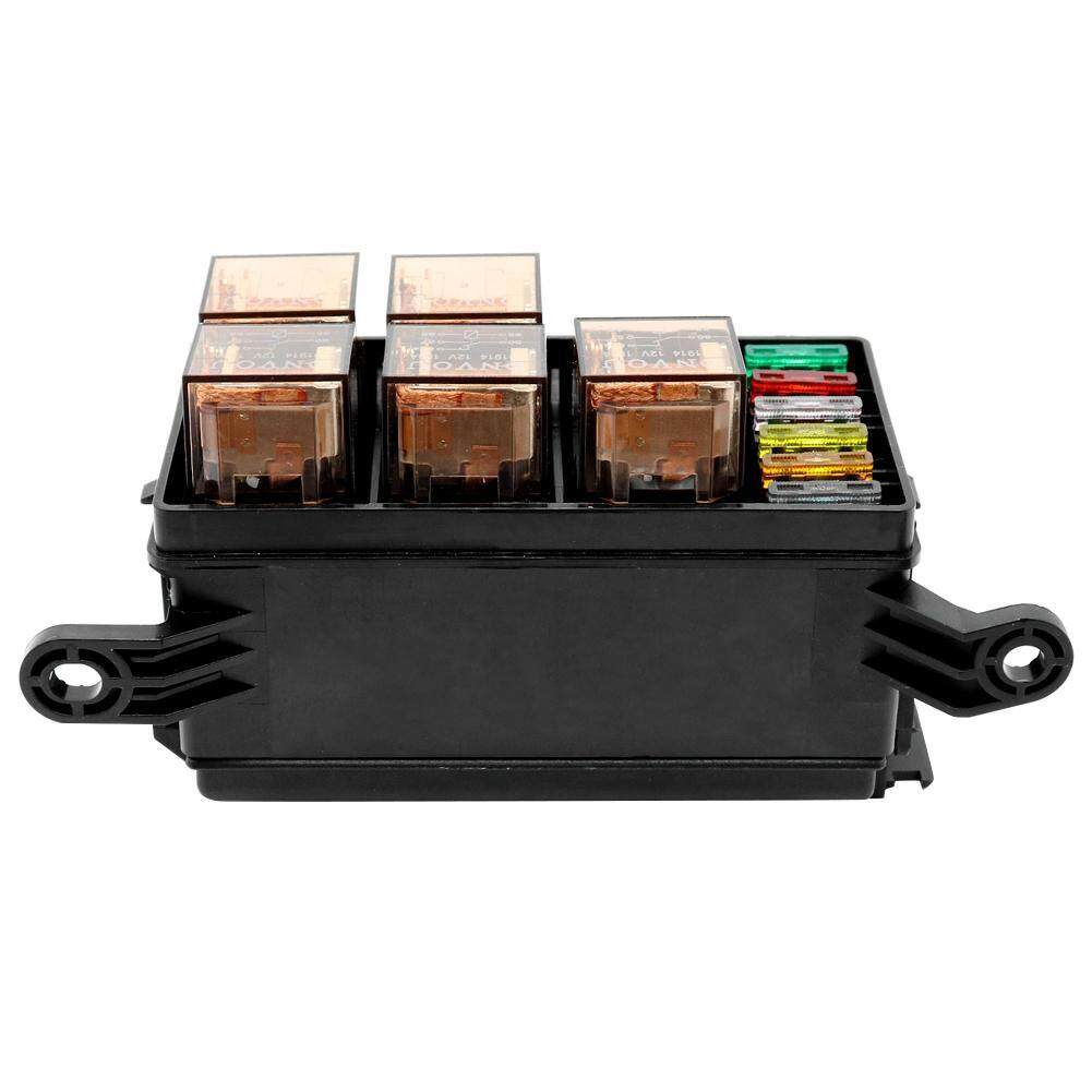 slot: 6 relay slots+ 6 blade fuse slots  voltage: 12v product size: 120 x  90 x 70mm/4 72 x 3 54 x 2 76