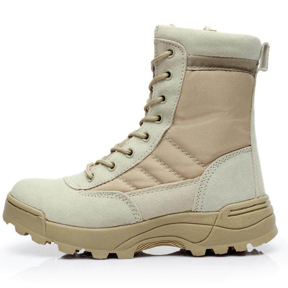 Outdoor Desert Boots High Tactical Boots Military Enthusiasts Training Boots Mens Military Training Shoes Combat Boots By Waterlily.