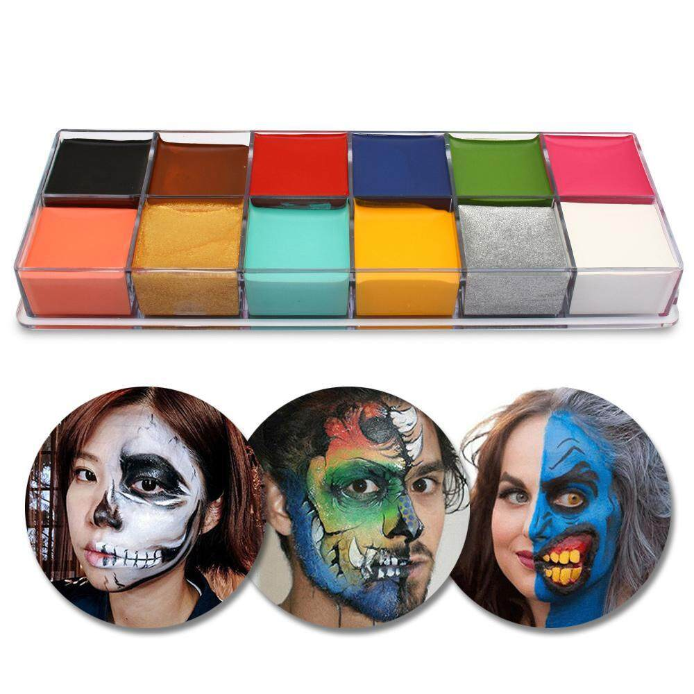 niceEshop Face Paint,12 Colors Face Body Paint, Washable Body Paints for Kids &