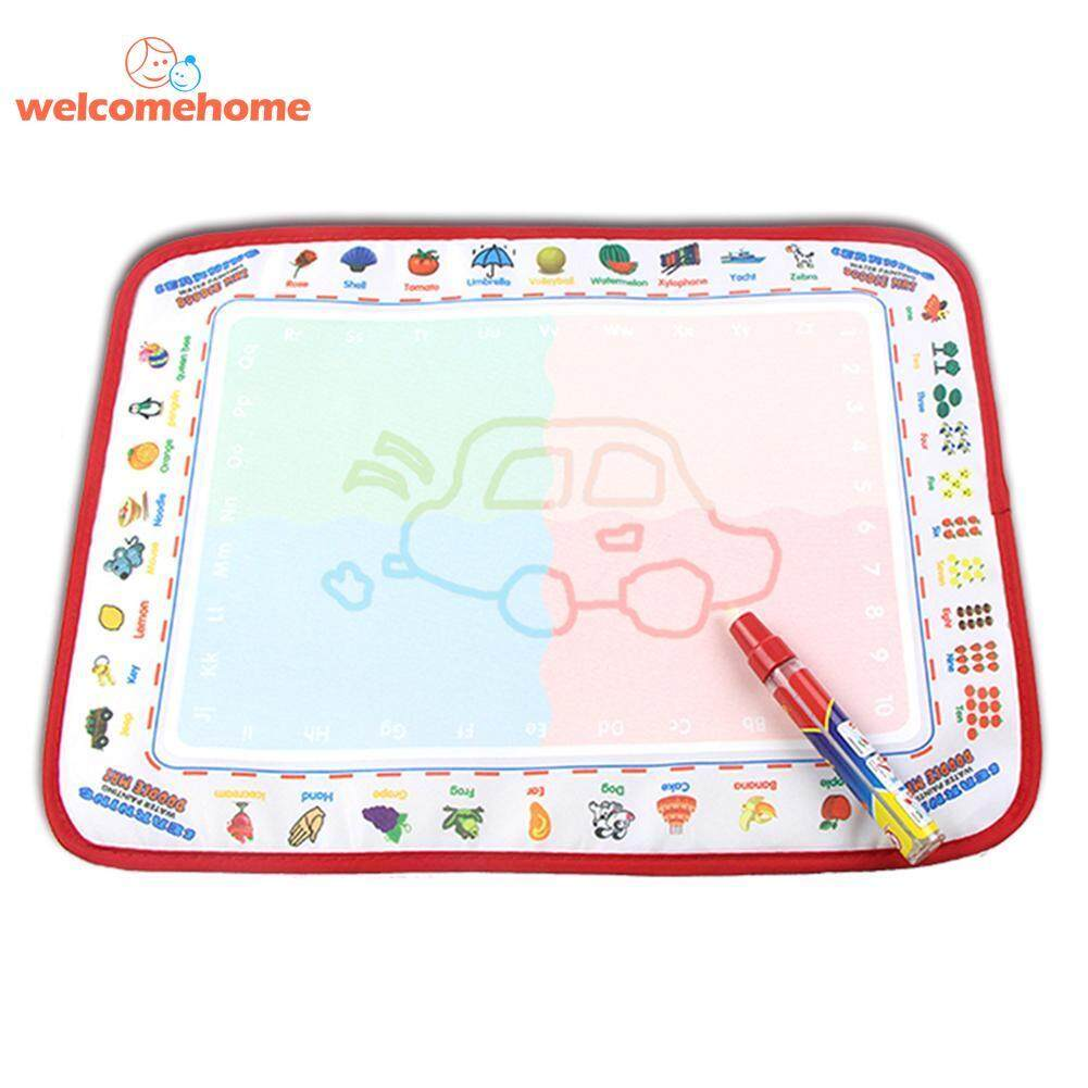 Children Magic Water Drawing Canvas Doodle Coloring Painting Board With Pen Toy - Intl By Welcomehome.