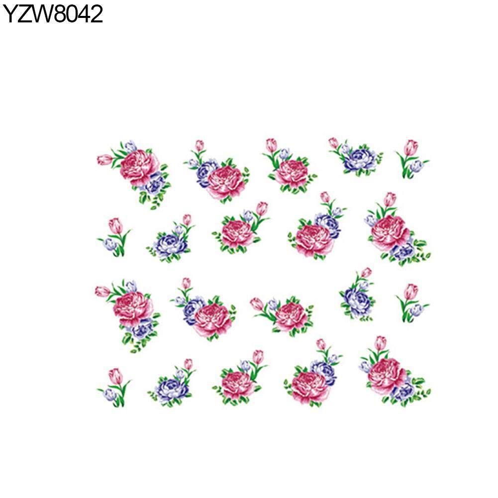 Flower Nail Art Floral Sticker Women Fingernail Manicure DIY Decal Decor