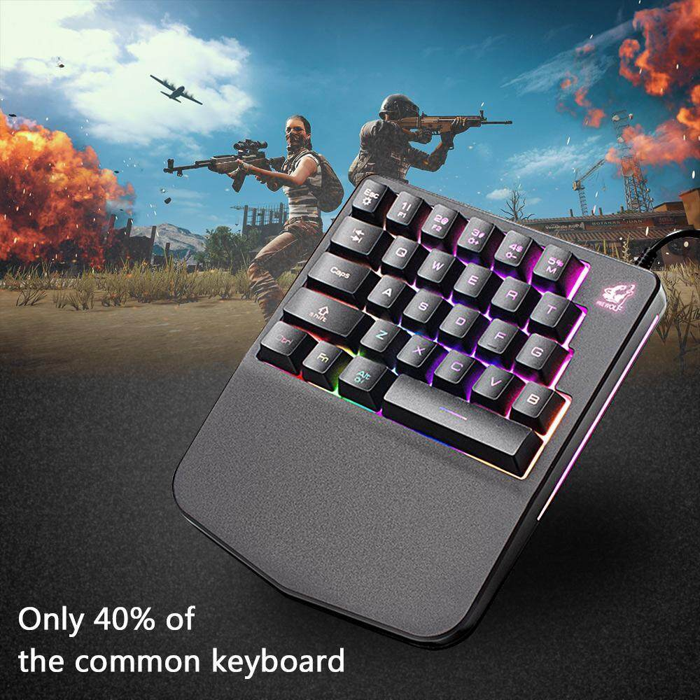 HOSdog Wired Gaming Keyboard K11 28 Keys LED BackLight Usb Ergonomic Pro Gamer Single-hand Control Mechanical Keypad For PC Laptop Computer