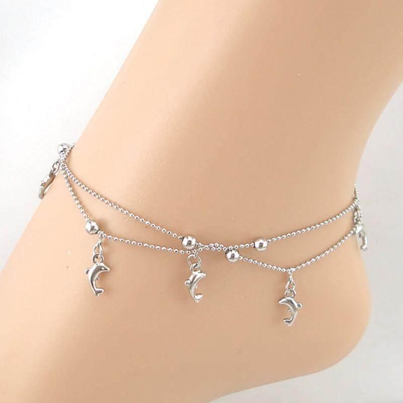 Dolphin Fish Women Chain Anklet Bracelet Sandal Beach Foot Jewelry - intl