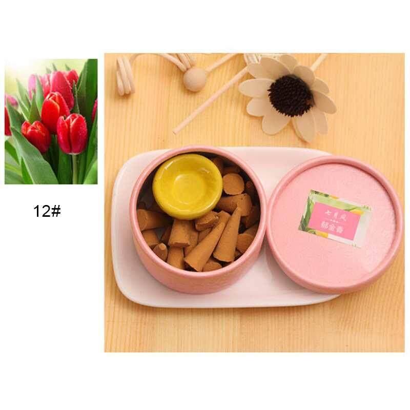 Ycrown Pagoda Alam Dupa Akan Membantu Tidur Stick Aromaterapi Parfum Cendana Set (Tulip)-