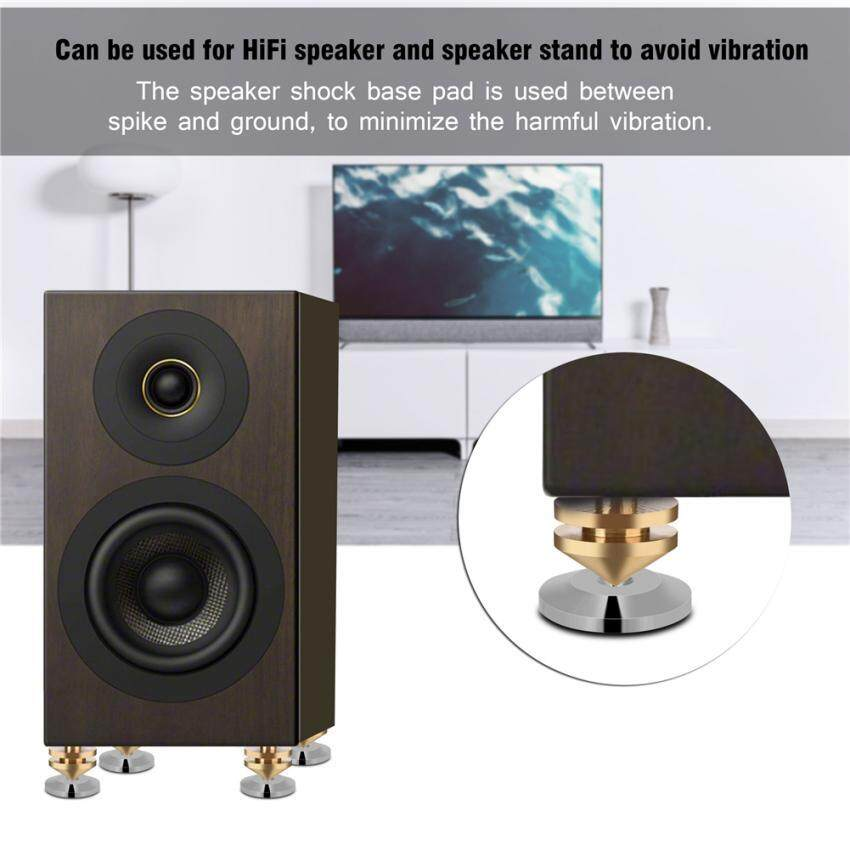 8 Pcs Copper Speaker Suspension Spikes Isolation Stands Foot Base Pad - intl