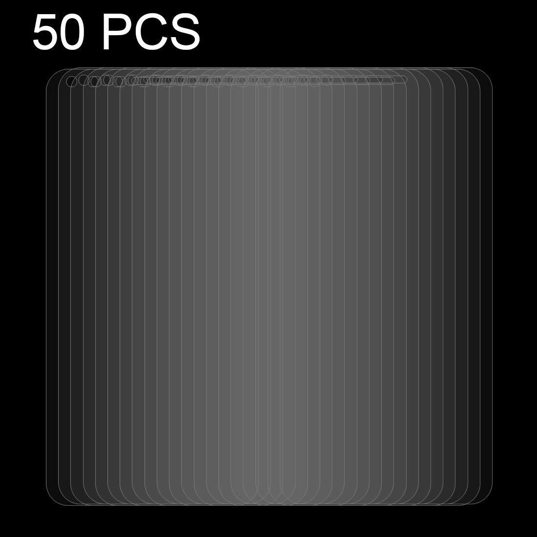 50 Pcs Huawei Y6 Pro (2017) 0.26 Mm 9 H Kekerasan Permukaan 2.5D Tepi Melengkung Kaca Antigores Pelindung Layar-Intl