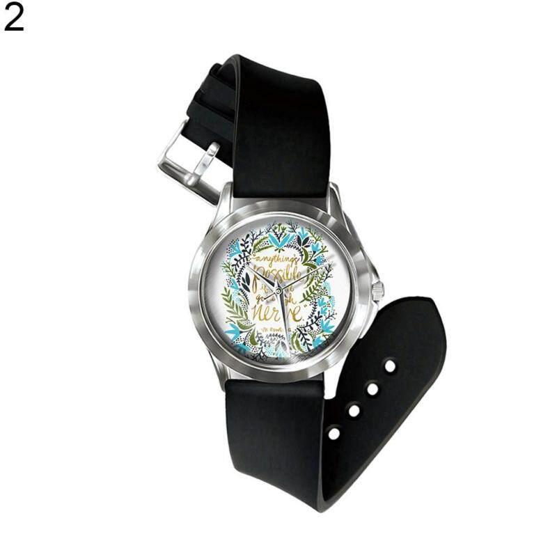 Sanwood® Vintage Flower Leaf Letter Print Dial Analog Display Quartz Unisex Wrist Watch (2#) Malaysia