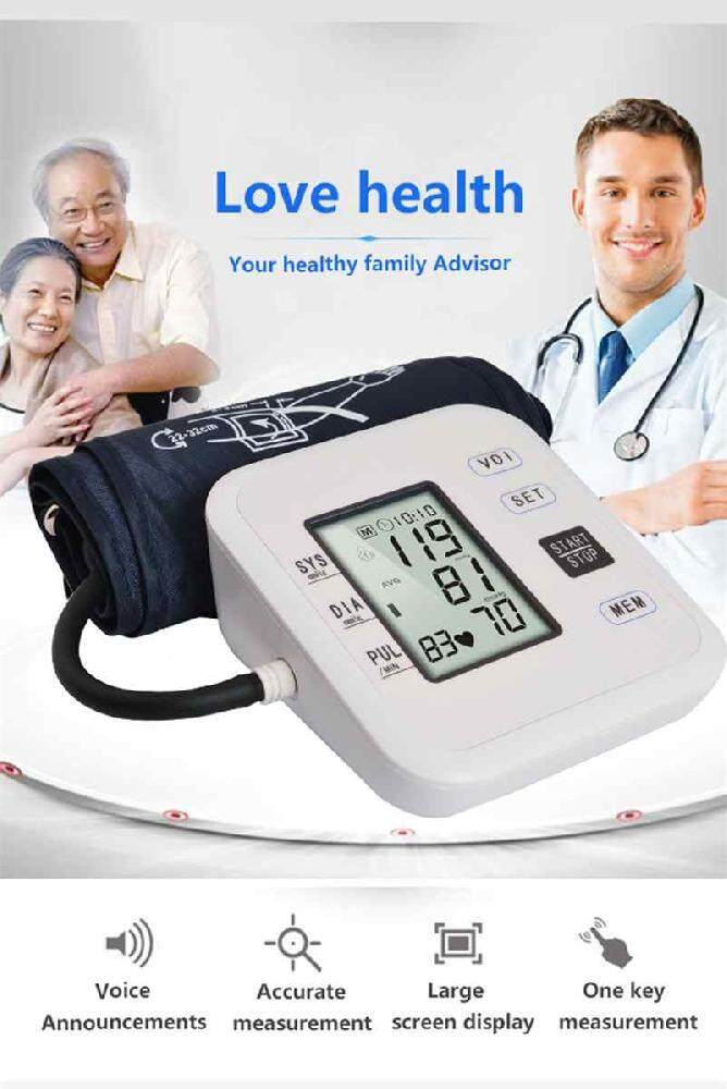 Watson Home Health Care 1pcs Digital Lcd Upper Arm Blood Pressure Monitor Heart Beat Meter Machine