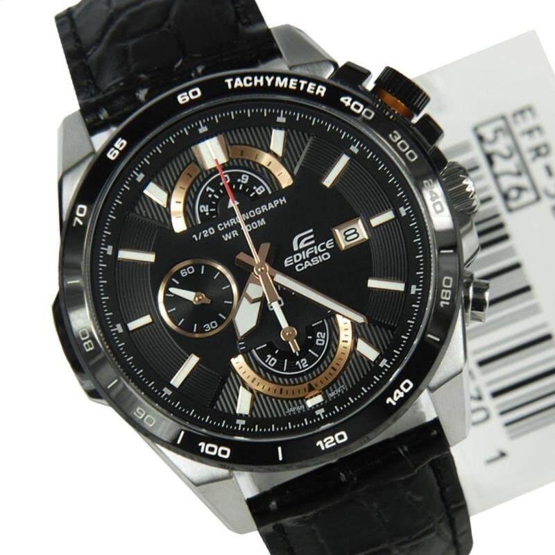 Casio Edifice 520 Leather Black Malaysia