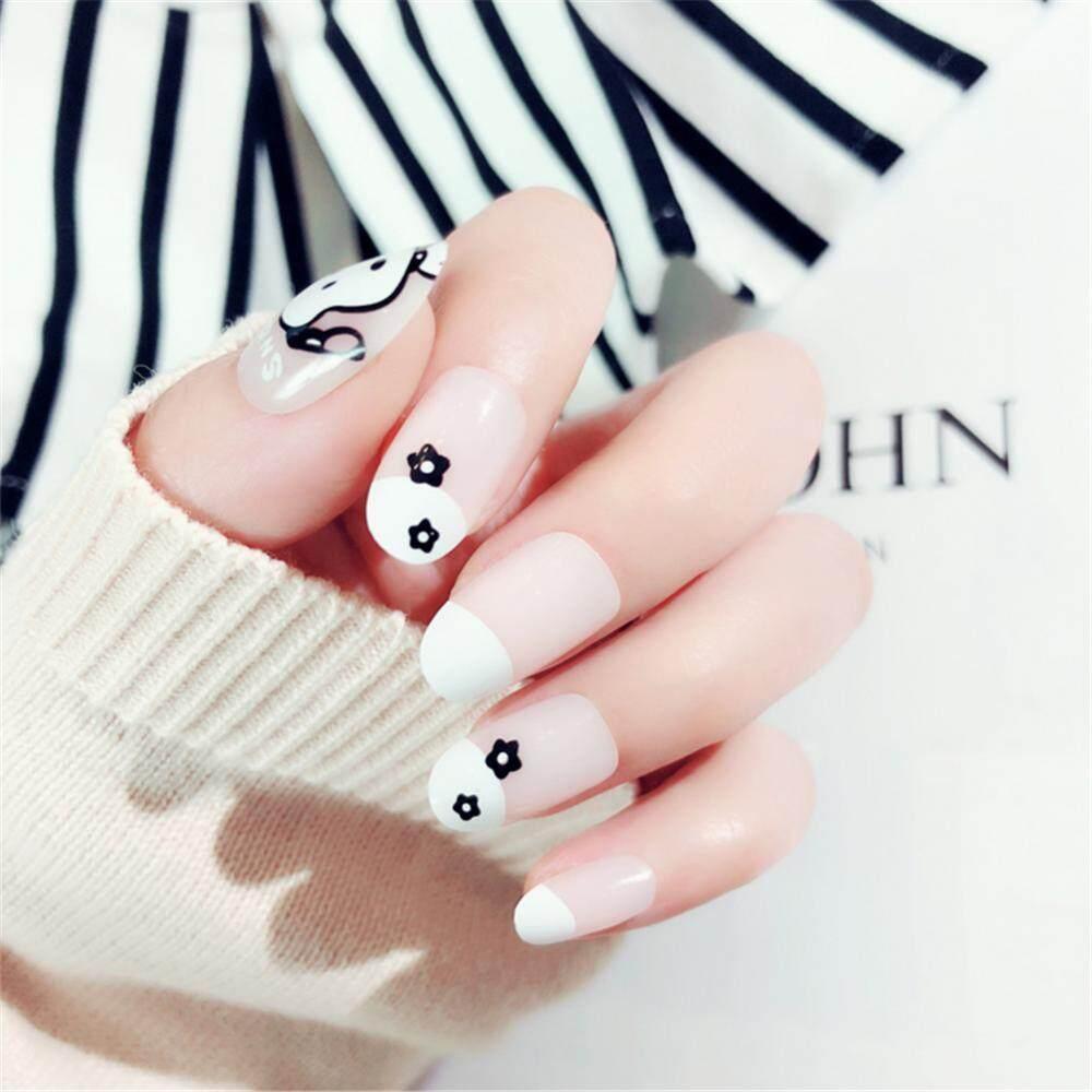 24 Pcs Perancis Akrilik Kuku Palsu Art Fingernail Full Tips Pink-Intl. IDR 33,000 IDR33000. View Detail. 24Pcs Gog Flower Pattern Decoration Artificial ...