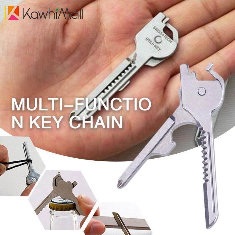 Hình ảnh KawhiMall Key Cutter Bottle Opener Key 6 in 1 Silver Travel Multifunction