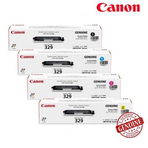 Canon Original Cartridge 329 Full Set Black and Color Laser Printer Toner for imageCLASS LBP7018C 7018C (Black, Cyan. Magenta, Yellow Bundle)