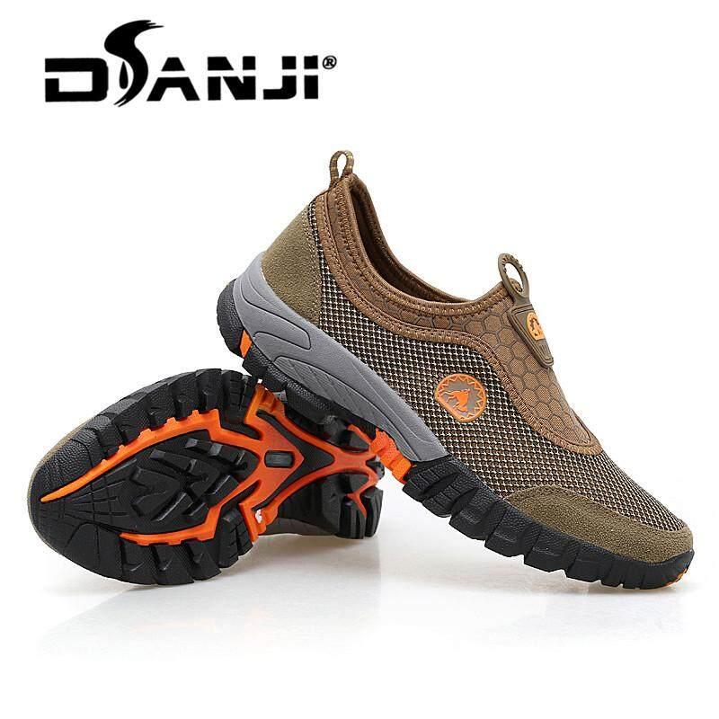 Danji Sepatu Olahraga Ukuran Besar Pria Berkualitas Tinggi Sepatu Daki Gunung Super Bernapas Sepatu Malas Malas