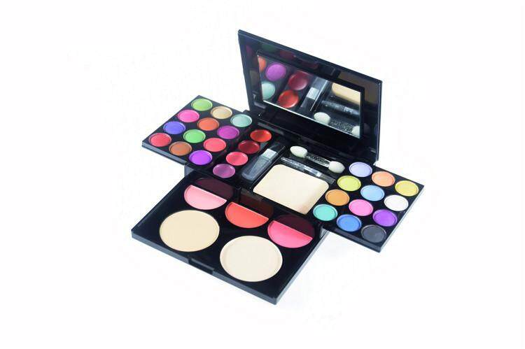 33 Colours ADS Luminous Palette Cosmetic Glitter Eye Shadow Colorful Smoky Eyeshadow Palette Lipstick Blusher Consealer Makeup Kit All in One Professional Set