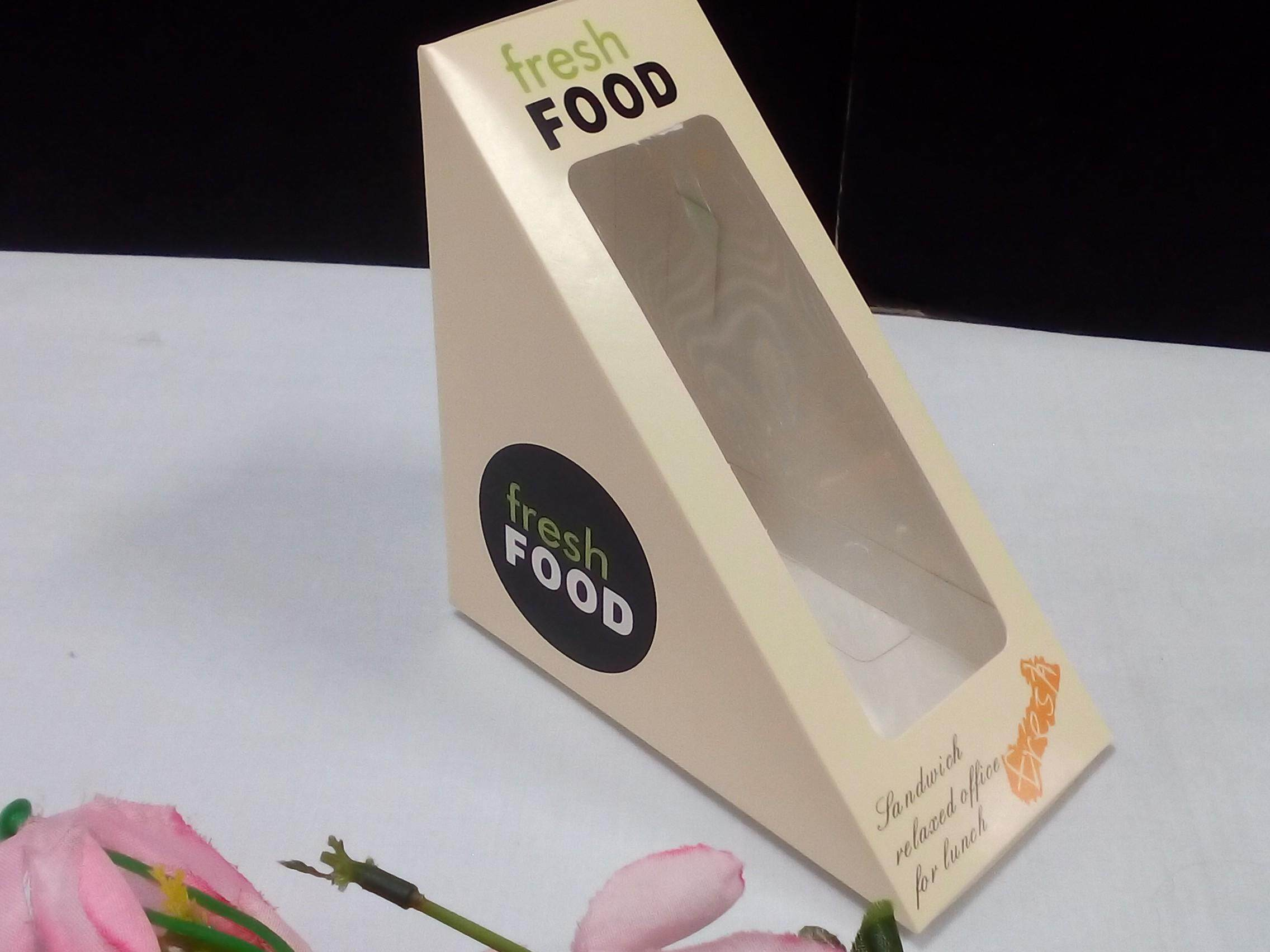 50 pieces Sandwich Paper Box For Two Pieces Breads. Ship within 6 Hours ! (Brown)