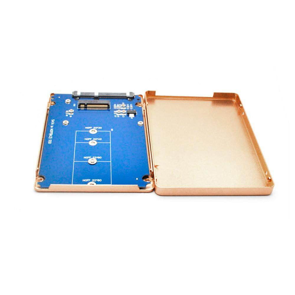 B M Soket Kunci 2 M.2 NGFF (SATA) SSD untuk 2.5 Kartu Adaptor SATA dengan Case GD-Intl