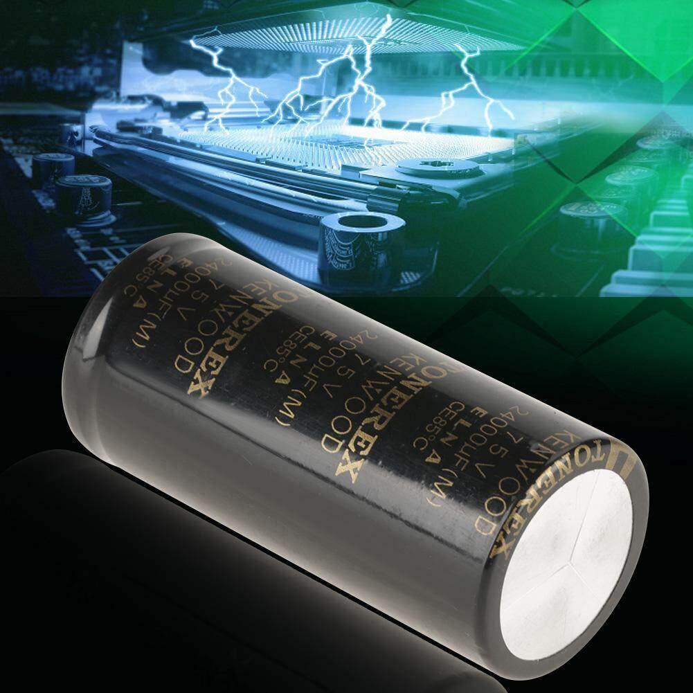 40*90 Mm Audio Kapasitor Elektrolit 24000 UF 75 V Komponen Elektronik untuk Amplifier-
